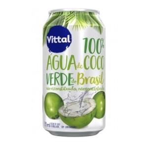 Água de coco Vittal lata 340ml.