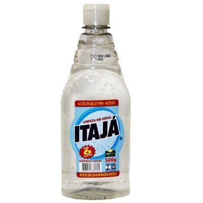 Álcool em gel 70º multiuso Itajá 500g.