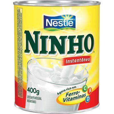 Leite em pó  Ninho instantâneo Nestlé 400g.
