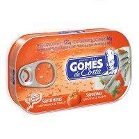 Sardinha ao molho de tomate Gomes da Costa 125g.