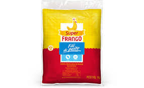Filé de peito de frango congelado Super Frango 1kg